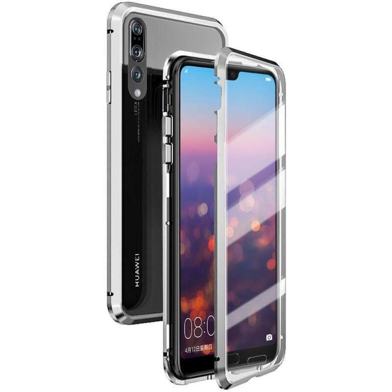 Giá Kính Cường Lực 2 Mặt Từ Hấp Phụ Kim Loại Ốp Lưng Ốp Lưng Cho Huawei P20 Pro Điện Thoại Ốp Lưng Mỏng Miếng Dán Kính Cường Lực 2 Trong 1 khung Nhôm Nam Châm Hấp Phụ Vỏ