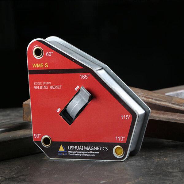 Dụng cụ định vị Hàn điện từ Wm5-S, dụng cụ phụ trợ hàn điện góc vuông, máy hàn đa góc, máy hút từ tính mạnh, định vị từ bên ngoài, góc phải làm giá đỡ A