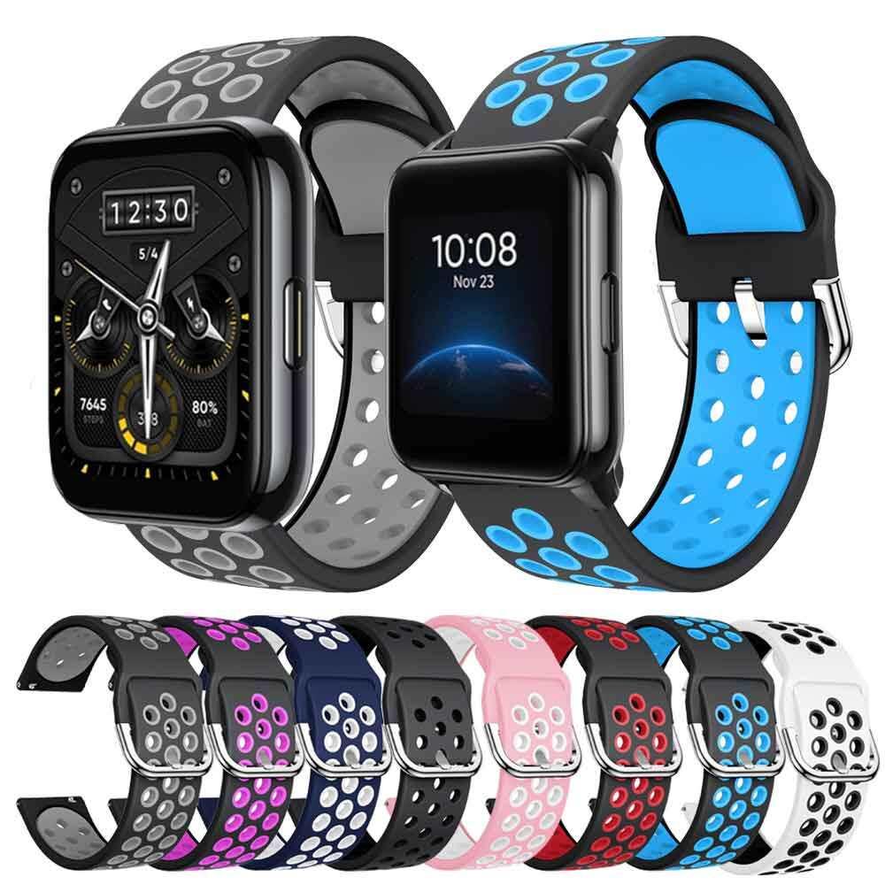 สายนาฬิกา22มม.,สำหรับ Realme Watch 2 / 2 Pro สายรัดข้อมือซิลิโคนสำหรับ Realme Watch S อุปกรณ์เสริมสายรัดข้อมือ.