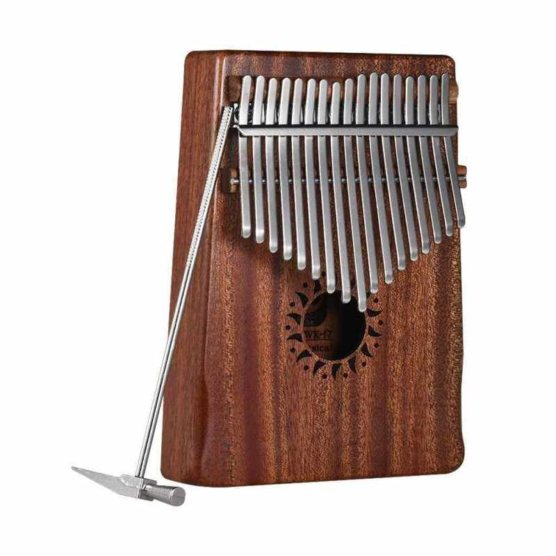 17-Key Portable Kalimba Mbira Thumb Piano Mahogany Solid Wood Musical Instrument Gift for Music Lovers Beginner Students (Wood) Malaysia