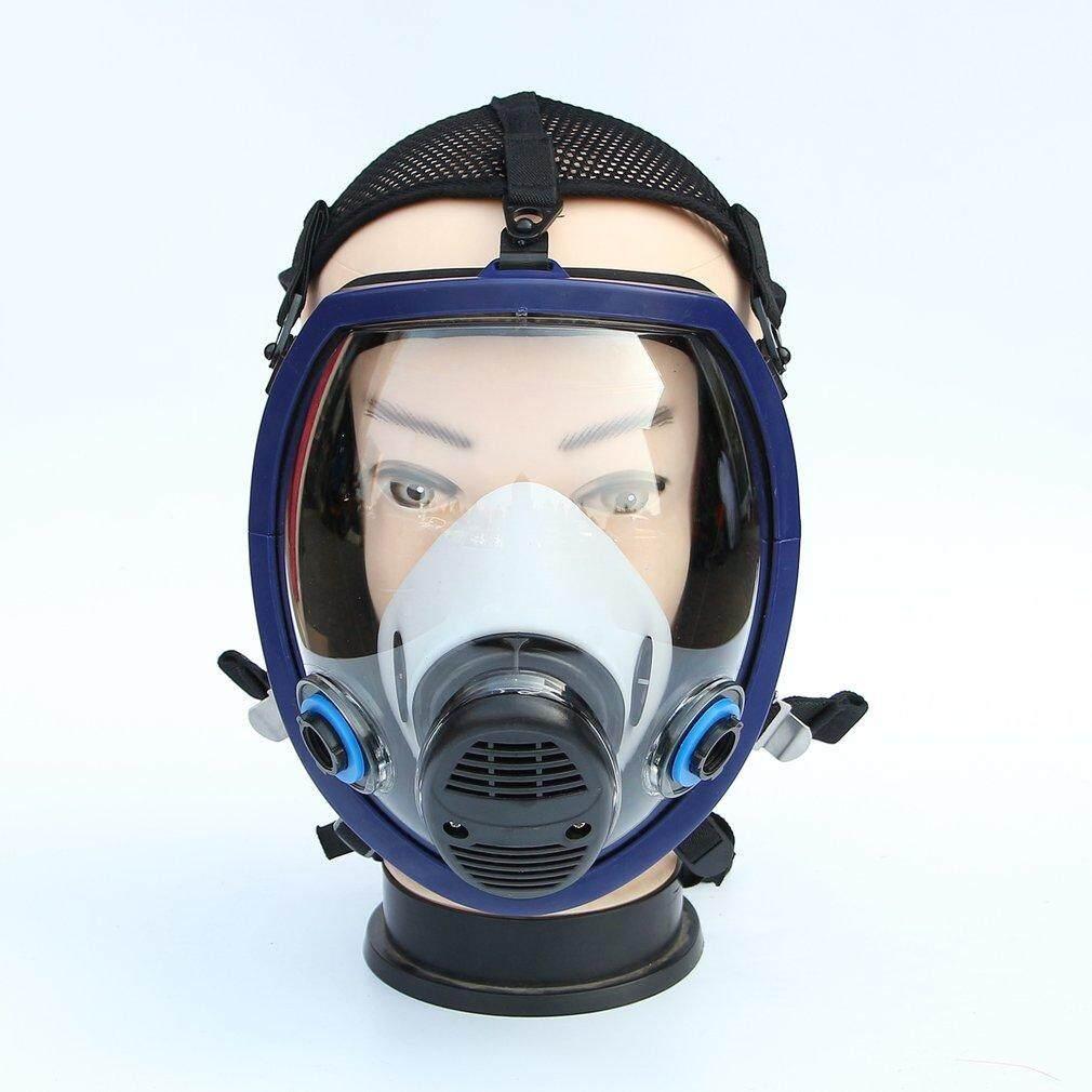 Top Penuh Wajah Masker Untuk Bahan Kimia Anti Masker Gas Asam Debu Respirator Penyaring Cat Topeng Hitam By Topregal.