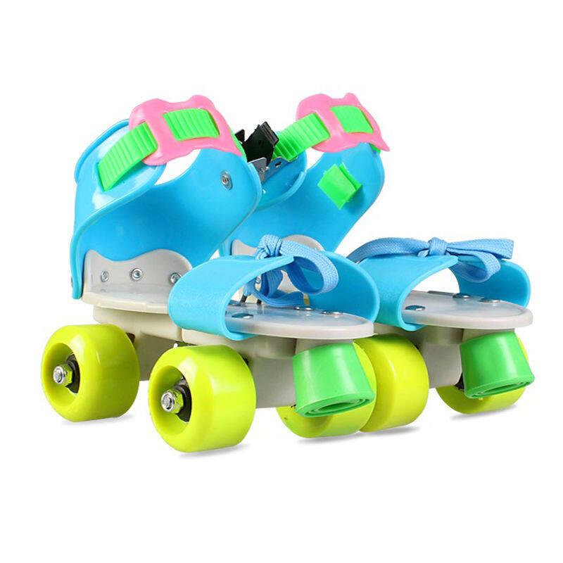 Phân phối Quà Tặng Trẻ Em Trẻ Em Giày Trượt Pa-tanh Hai Hàng 4 Bánh Xe Giày Trượt Băng Kích Thước Có Thể Điều Chỉnh Trượt Slalom