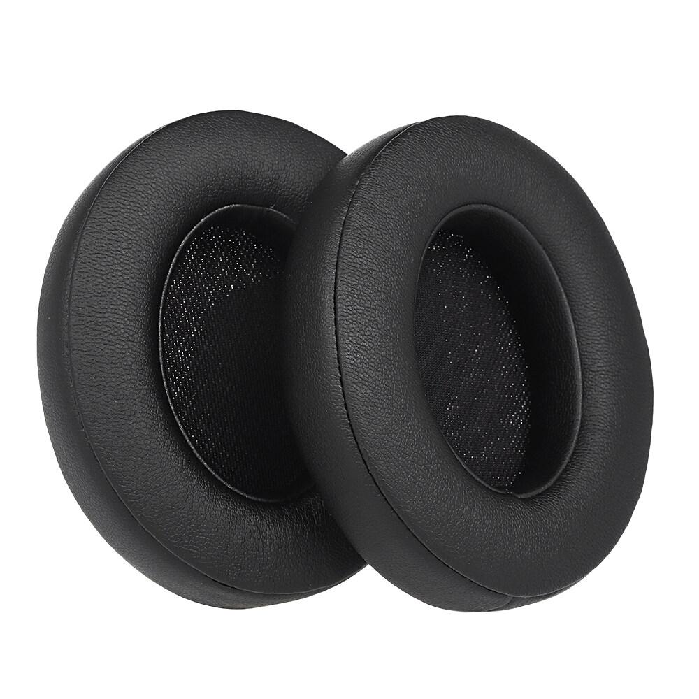 2Pcs �ผ่นรองเบาะรองหูฟังสำหรับ Beats Studio หูฟัง�บบมีสาย/หูฟังไร้สายสีดำ
