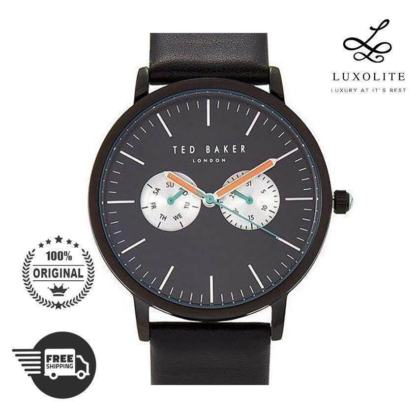 cf7c643986b  SALE  Ted Baker TE50291001 Black Leather Men Fashion Watch (1 YEAR  WARRANTY)