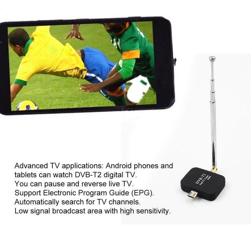 [โปรโมชั่น] Dvb-T2 ไร้สายตัวจูนทีวีดิจิทัล Full Hd สำหรับแผ่นโทรศัพท์แอนดรอยด์ By Wonderfancy.
