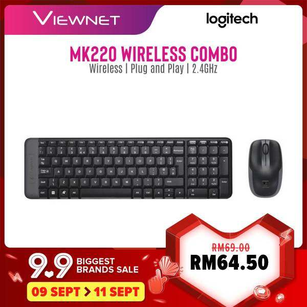Logitech MK220 Wireless Combo with 2.4GHz Wireless Connection, Minimalist Design, Up To 10M Range, Plug and Play Malaysia