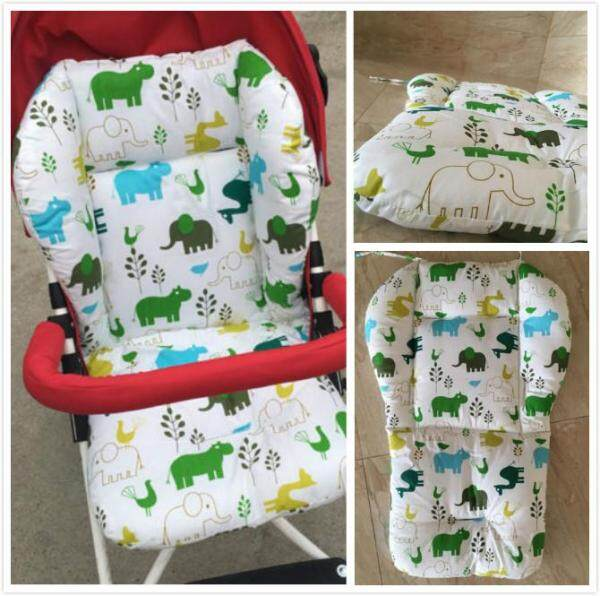 48X62CM Seat Liner Cartoon Baby Stroller Mat Seat Soft Cotton Cushion Infant Toddler Baby Outdoor Feeding Chair Mat BB Pad Singapore