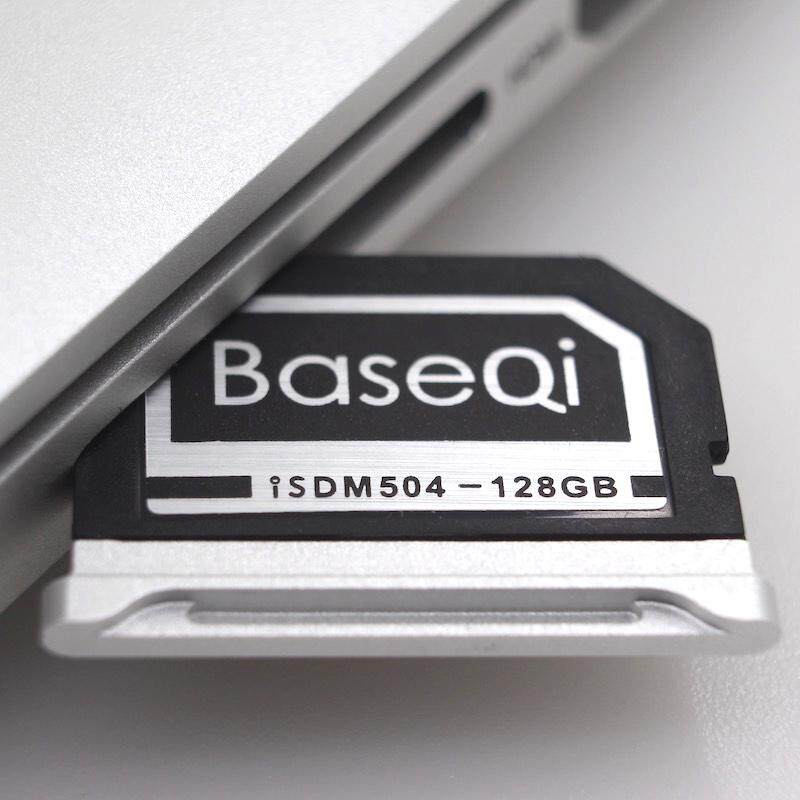 BASEQI 503MSV 128GB Aluminum Alloy Micro SD(TF) Memory Card for Macbook Pro Retina 15 inch (2012 - 2013 Early) Laptops