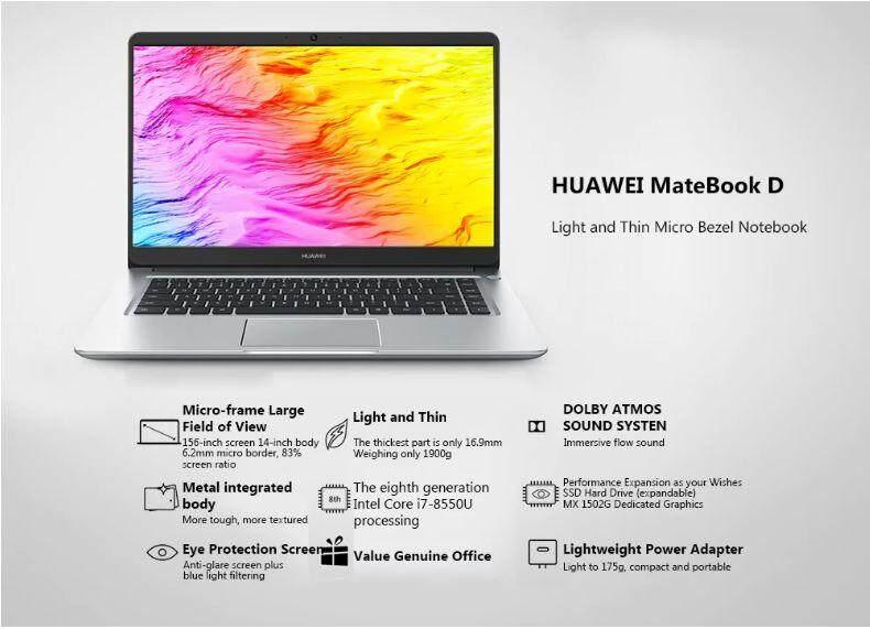 ORIGINAL HUAWEI MALAYSIA Huawei Matebook D X Pro i5 i7 Matebook 13 i5 i7