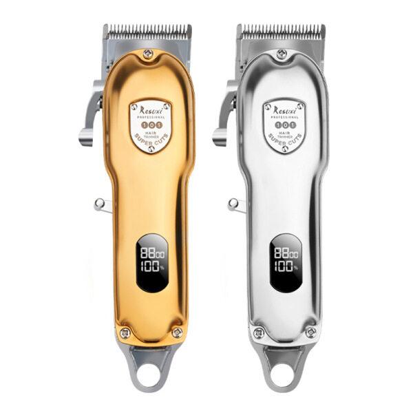 gold barber shop powerful cutter hair cutting machine Cordless hair clipper hair trimmer haircut cut electric rechargeable