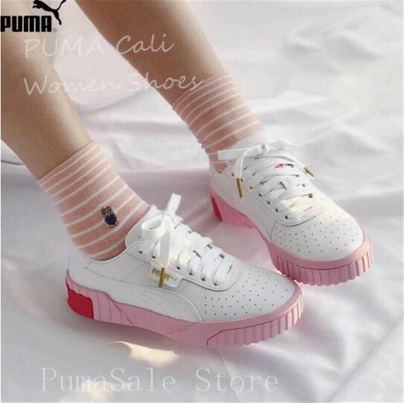 5e00918deb PUMA Women's Cali Sneaker 369155-02 Rihanna Basket Platform Euphoria Metal  Women Badminton Shoes Pink Upper Women Shoes 35-40