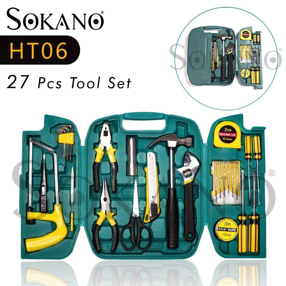 SOKANO HT06 27 Pcs Tool Set Box Hand Tool Kit For Home Repair DIY Toolbox Case Set DIY Set