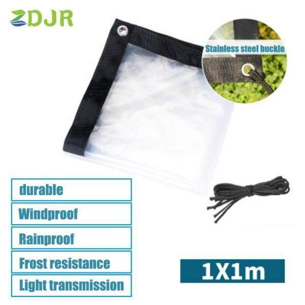 ZDJR Transparent Rainproof Shed Cloth Tarpaulin Lightweight Waterproof Tarp Cover Tent Shelter
