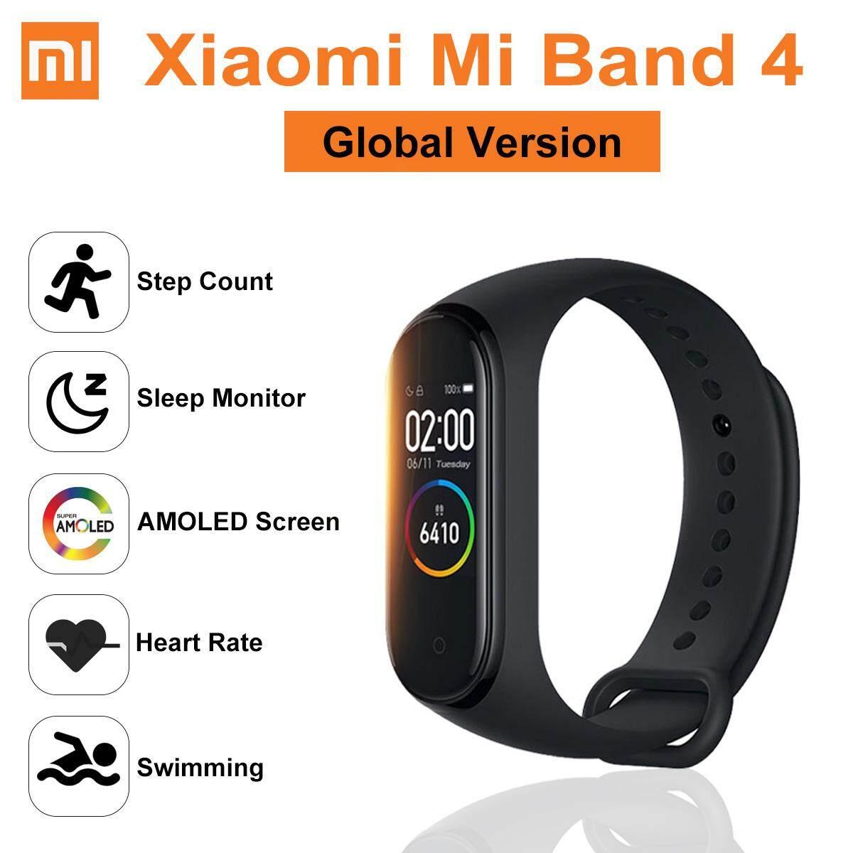 【Global Version】【Free Shipping】2019 Original Xiao Mi Mi Band 4  กำไลข้อมืออัจฉริยะ