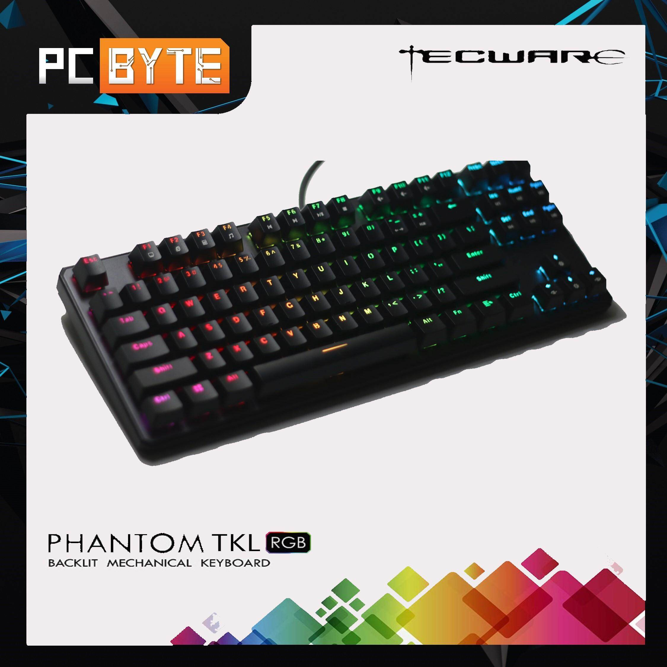 TECWARE PHANTOM TKL RGB LED Gaming Keyboard (Blue/ Brown/ Red Switch)