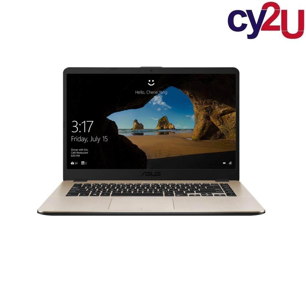 Asus Vivobook X505Z-AEJ521T 15.6 FHD Laptop - Gold (AMD R5-2500U, 4GB RAM, 1TB HDD, Radeon Vega 8, Win10) + Asus Backpack Malaysia