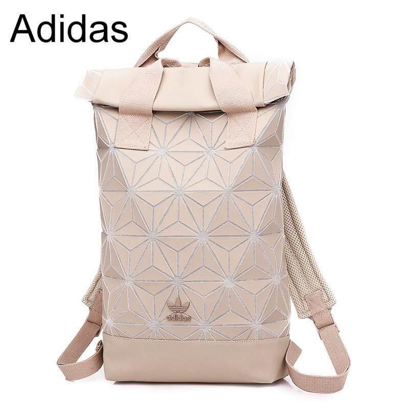 479d8ec432 Adidas 3D Roll Top Backpack Travel Sport Fashion Women Bag Pink