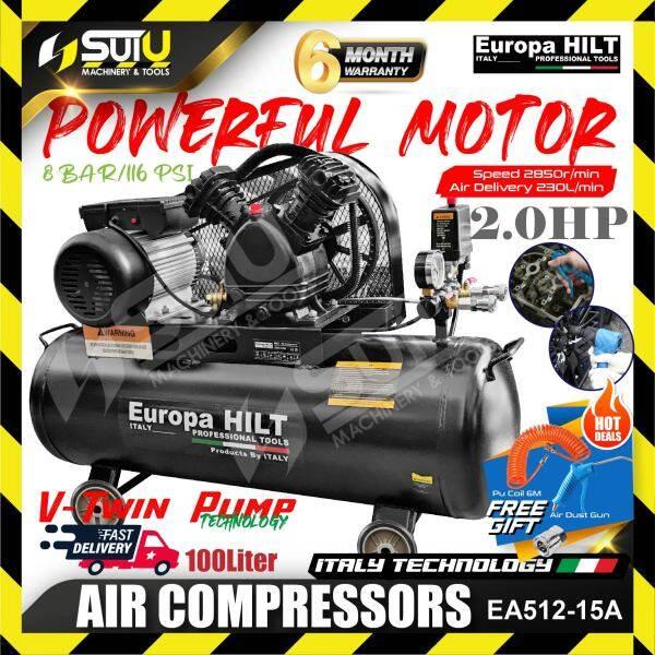 EUROPA HILT EA512-15A 2HP 100L Air Compressor 8bar 2850rpm