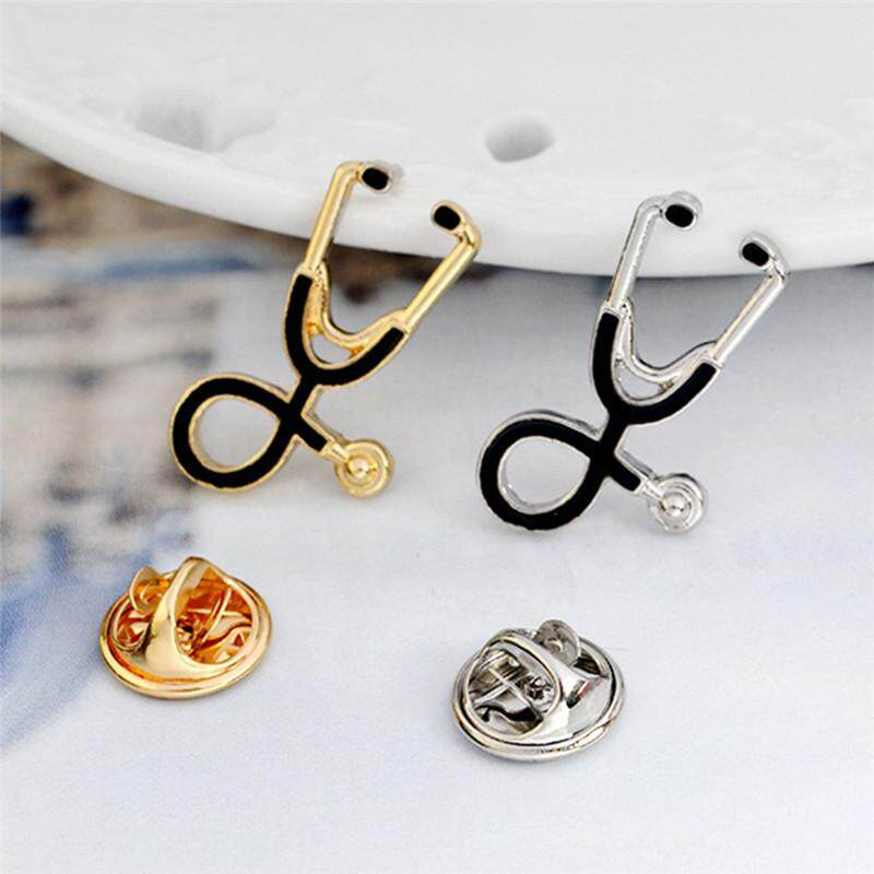 Fashion Gold Silver Plated Stethoscope Brooch Pin Nurse Jewelry Medical  Jewelry Gift