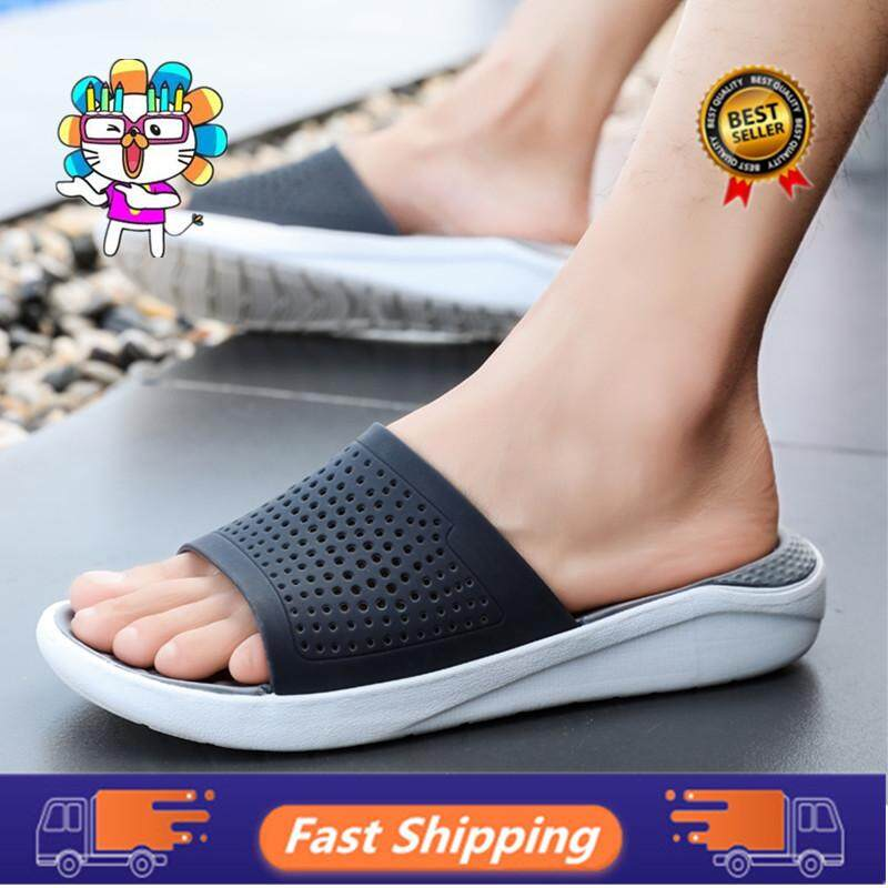 2f98f517e203 Fashion Summer Men Slippers Breathable Beach Sandals Croc Male Shoes Hollow  Out Of The Drag Men