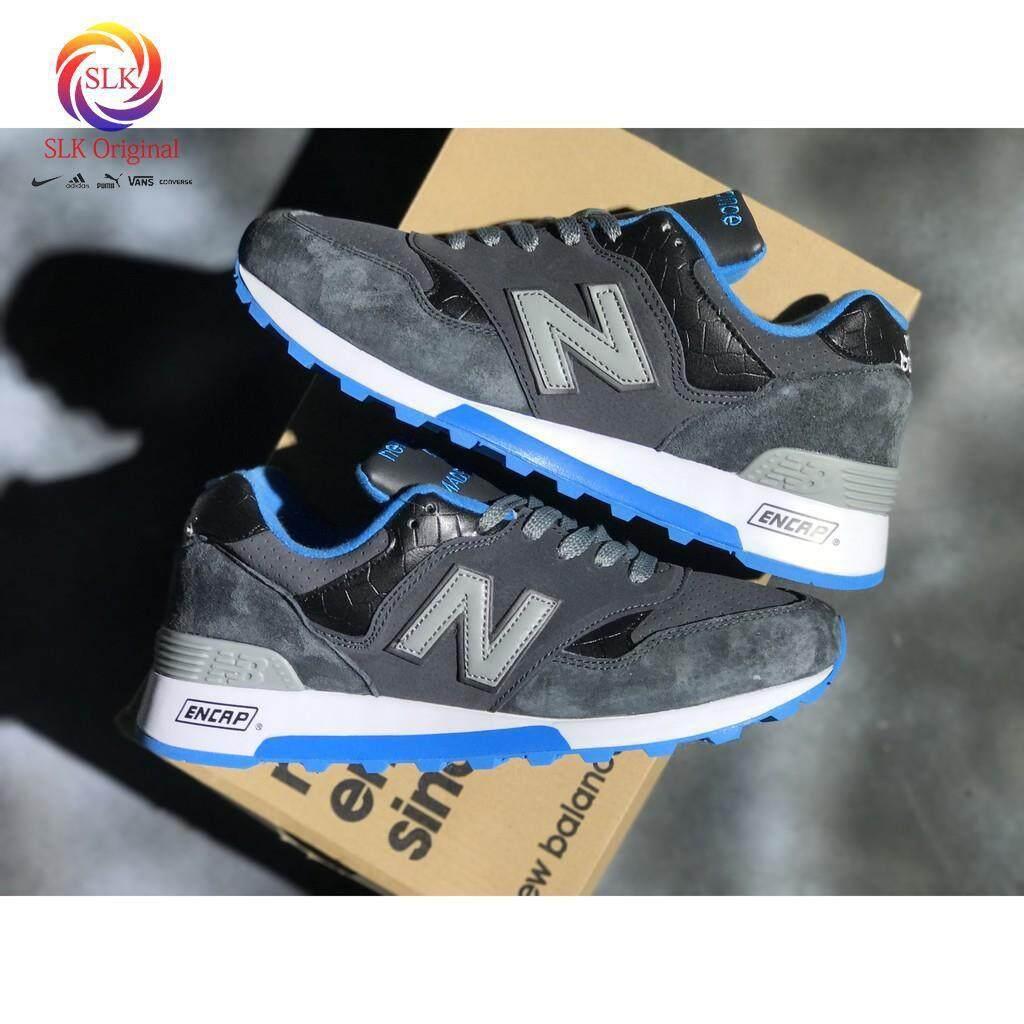 ชุมพร NEW BALANCE 577 nb577 สีน้ำเงินเข้มผู้ชายชุดกีฬาวิ่งสตรี breathableshoe36-44