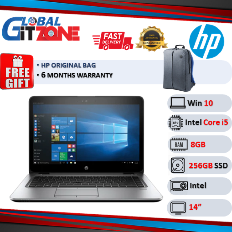HP EliteBook 840 G3 Notebook PC (i5-6300U, 8Gm 256G, 14 Display, Win 10 ) Used Laptop With Free Gifts Malaysia