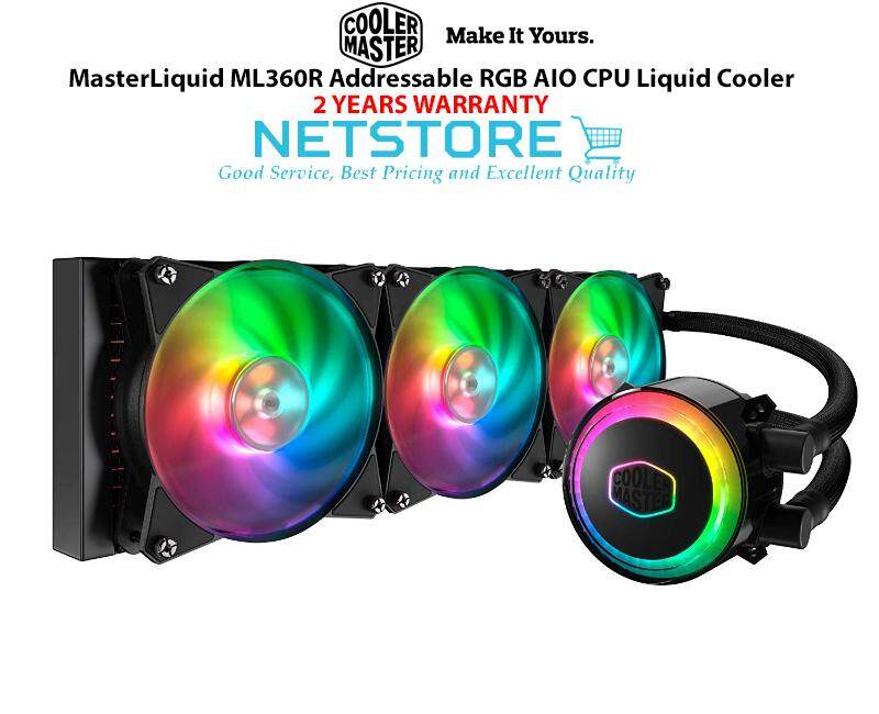Cooler Master Masterliquid Ml360r Argb Aio Cpu Liquid Cooler Mlx-D36m-A20pc-R1 By Netstore.