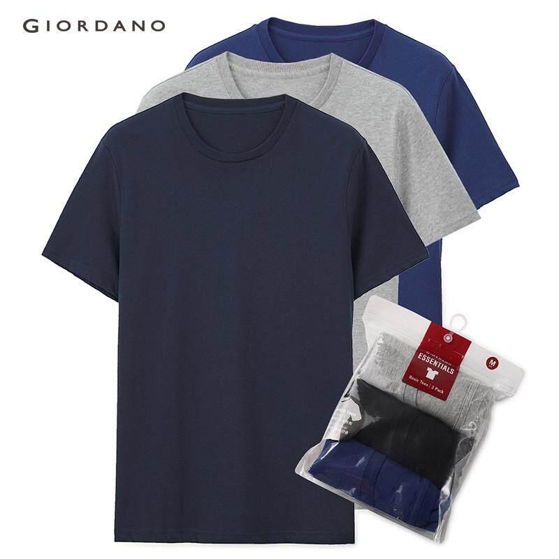 cbc754f34f [3 PACKS] Giordano Men T Shirts Pack Of 3 Tshirt Solid Crewneck T-