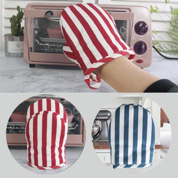 GUO Cotton Insulated Oven Gloves Thick Heat Resistant Hand Safe Oven Gloves With Convenient Hanging Loop Home Kitchen Chef Cooking Baking Cookie