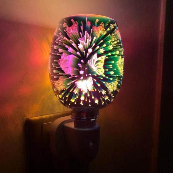 Buy 【Always Beautiful】1pcs Mosaic Electric Plug In Led Aroma Diffuser Lamp Wax Melt Oil Burner Wax Warmers Bedroom Bathroom Home Fragrances Home Decor Singapore