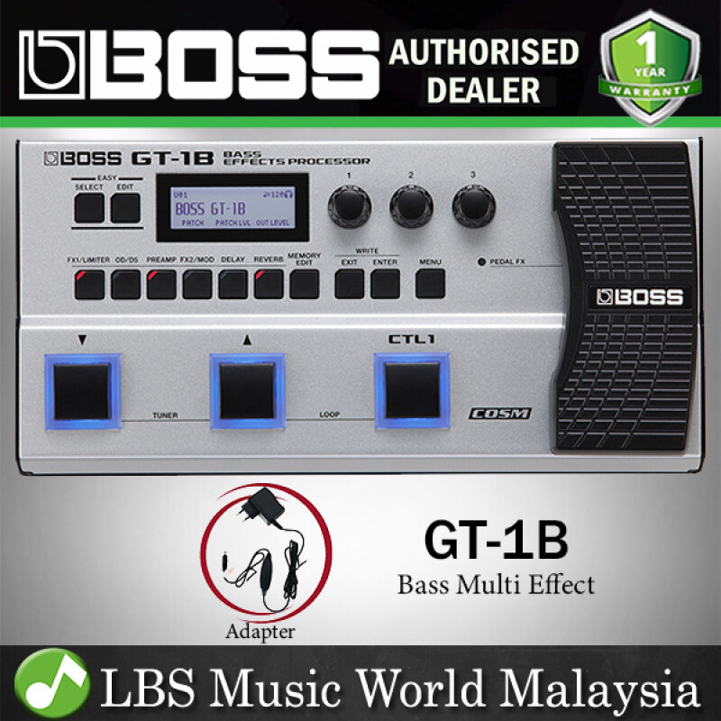 Boss GT-1B Bass Multi Effects Processor Guitar Pedal Package with 90 Effect (GT1B GT 1B) Malaysia