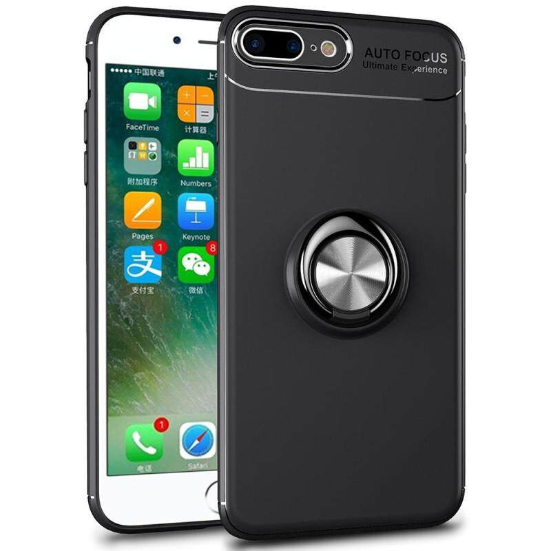 Giá iPhone 8 Plus Case, iPhone 7 Plus Case, Luxury Colorful Metal Magnetic Ring Soft Silicone Cover Phone Casing