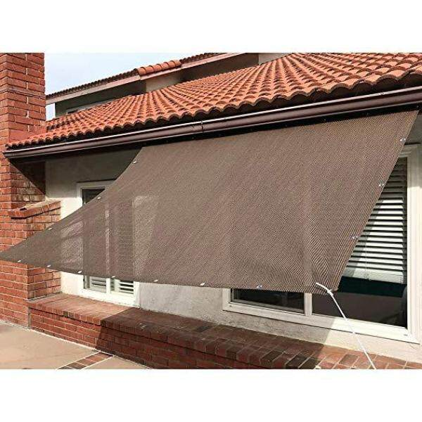 Sun Shade Mesh Canopy Awning Privacy Screen Wind Screen Hot Resistant Protection Shelter 90% UV Blocking for Gazebo Patio Garden Outdoor Greenhouse Flower Barn Kennel Fence Brown