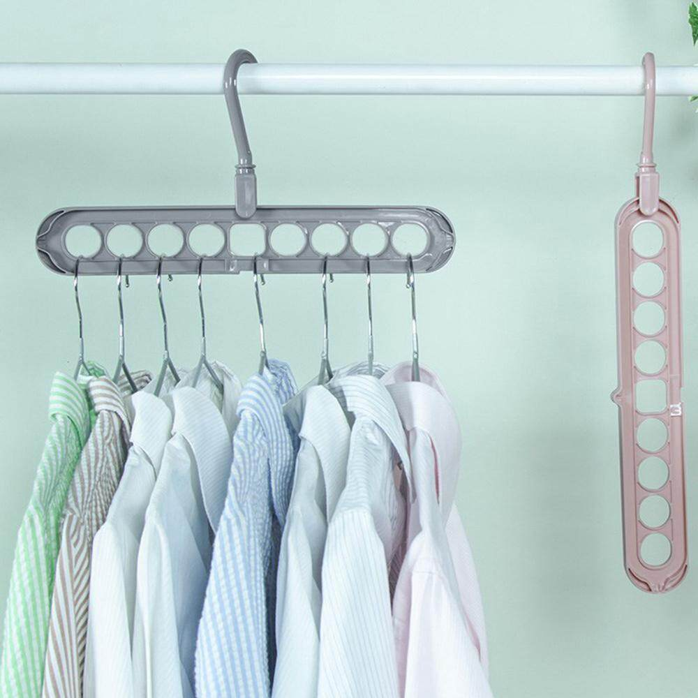 Rotate Anti-skid Folding Hanger Anti-skid Multifunction Clothes Hanger Hook SQ