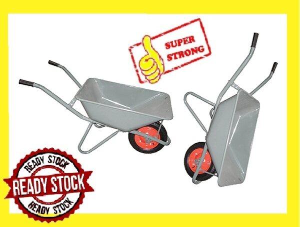 HIGH QUALITY Kereta Sorong Dalam Tayar Angin Tayar Hidup/ Deep Type Wheelbarrow Cart Wheel Barrow **Kereta Sorong Tolak