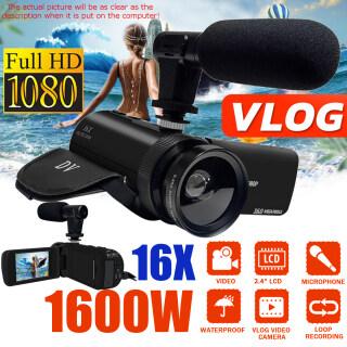 Máy Quay Video 4 Loại, Máy Quay Phim 1080P Máy Ảnh Vlog Dành Cho YouTube Tầm Nhìn Ban Đêm IR Lật 270 Có Micro, Ống Kính Góc Rộng thumbnail