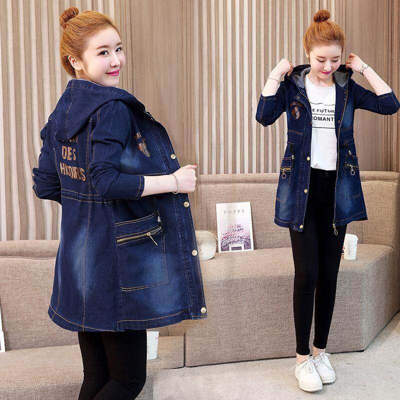 83c056ded11 Women Retro Hooded Denim Jackets Casual Jeans Coats Ladies Fashion New  Casual Vintage Autumn Slim Outerwear