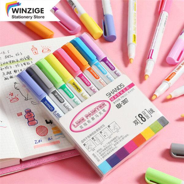 Mua Winzige 1 Mảnh Bút Đánh Dấu Hai Dòng Họa Sĩ Marker Ins Bút Vẽ Đầy Màu Sắc Tạp Chí Trường Học Văn Phòng Phẩm