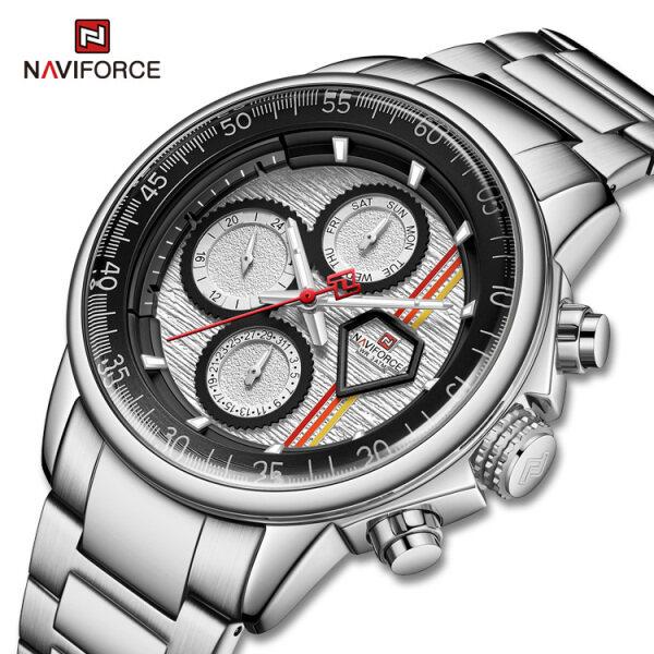 NAVIFORCE Watch for Men Original 30M Waterproof Stainless Steel Wristwatch Businless Casual Fashion Quratz Watches NF9184 Malaysia