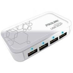Prolink PUH302 USB 3.0 Superspeed 4 Port Hub - White Malaysia