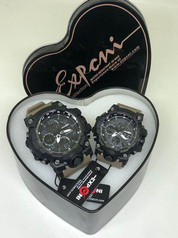 EXPONI WATCHES COUPLE SET (MUSTED BLACK) Malaysia