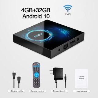 Hộp TV Thông Minh 2020 T95, Máy Phát Đa Phương Tiện Trên Youtube Android 10.0 4G 64GB 128GB 6K Bộ Android TVBOX Wifi 2.4G-Set Top Box 2GB 16GB Hàng Đầu thumbnail