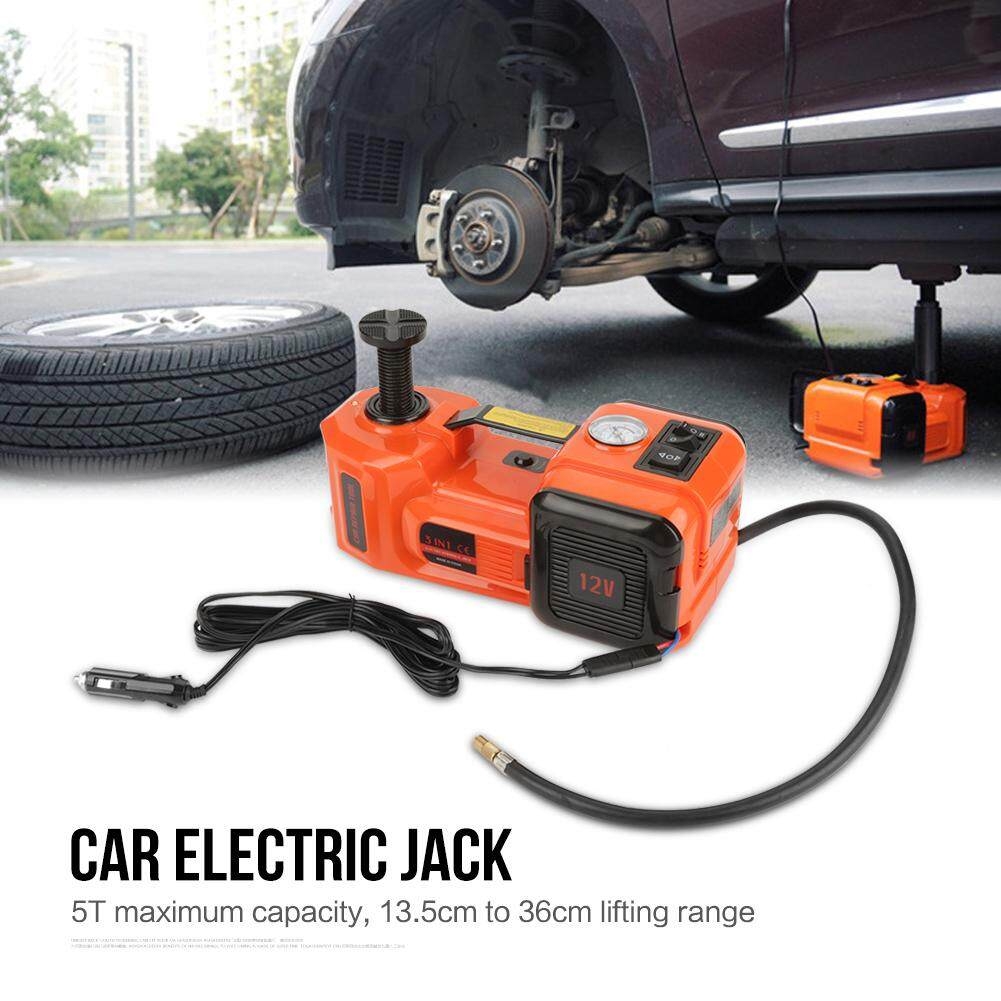 12V 5T Illumination Inflating 3 Function Electric Hydraulic Jack Impact Wrench & Air compressor