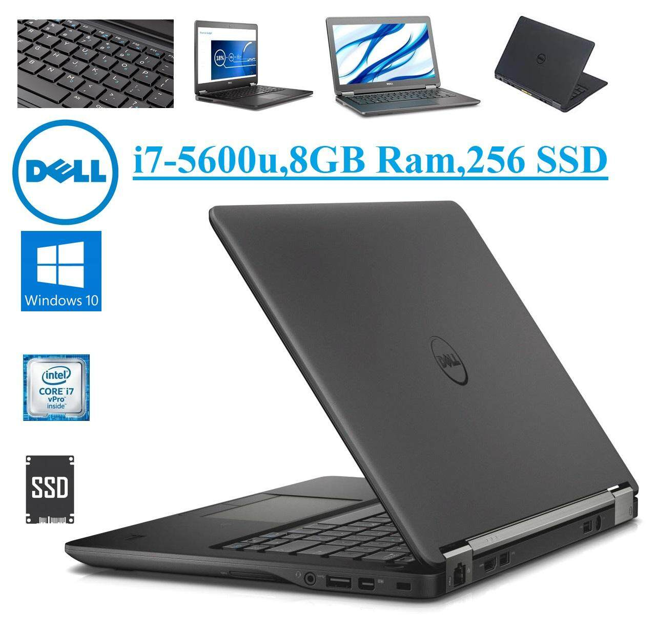DELL Latitude E7250 i7-5600u-Ram 8GB DDR3L-256 GB SSD-12.5 HD Screen - Win10Pro Malaysia