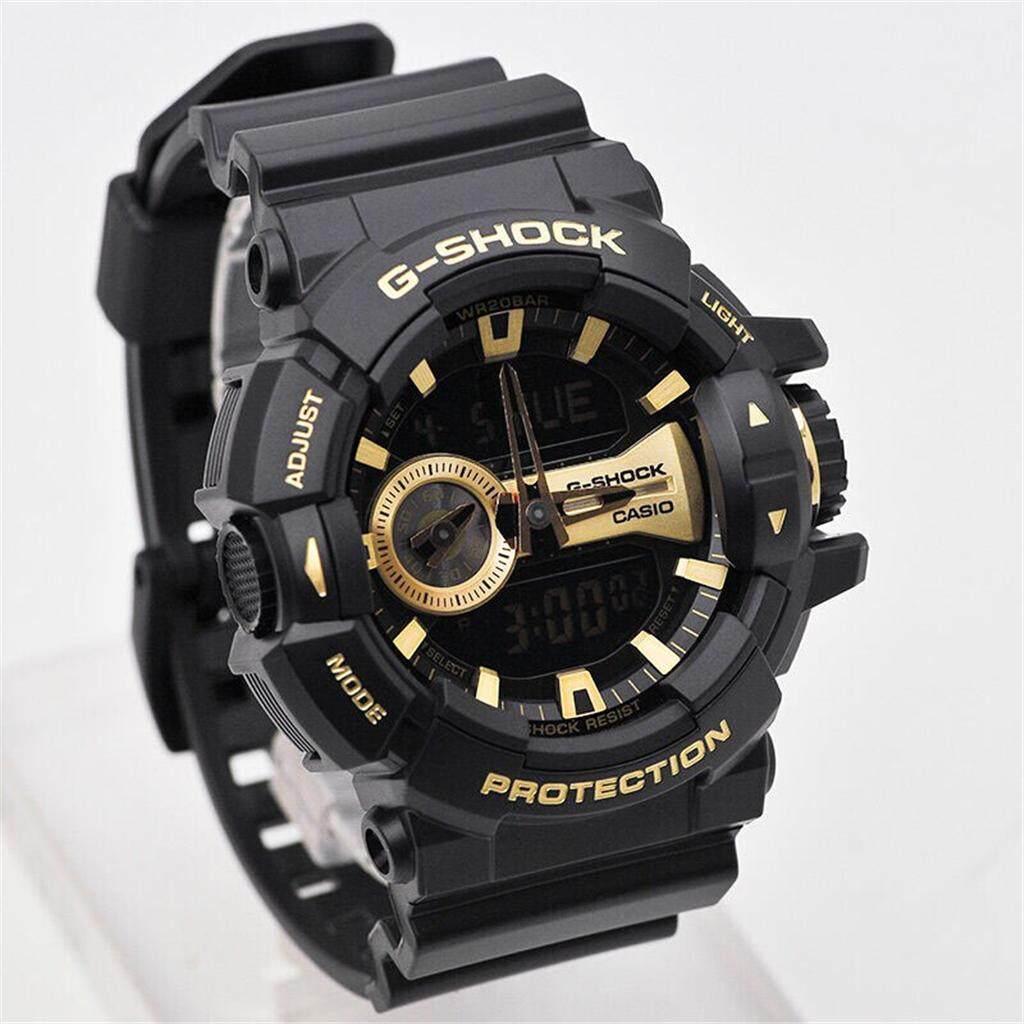 สุโขทัย 【 STOCK】Original _ Casio_G-Shock GA400 Duo W/เวลา 200M กันน้ำกันกระแทกและกันน้ำโลกนาฬิกากีฬาไฟแอลอีดีอัตโนมัติ Wist นาฬิกากีฬาสำหรับ MenGA-400GB-1A9 สีดำ