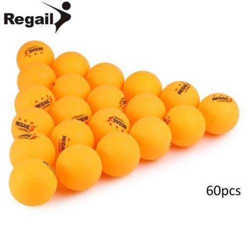 REGAIL 60PCS STAND 3-STAR 40MM PRACTICE TABLE TENNIS PING PONG BALL (YELLOW)