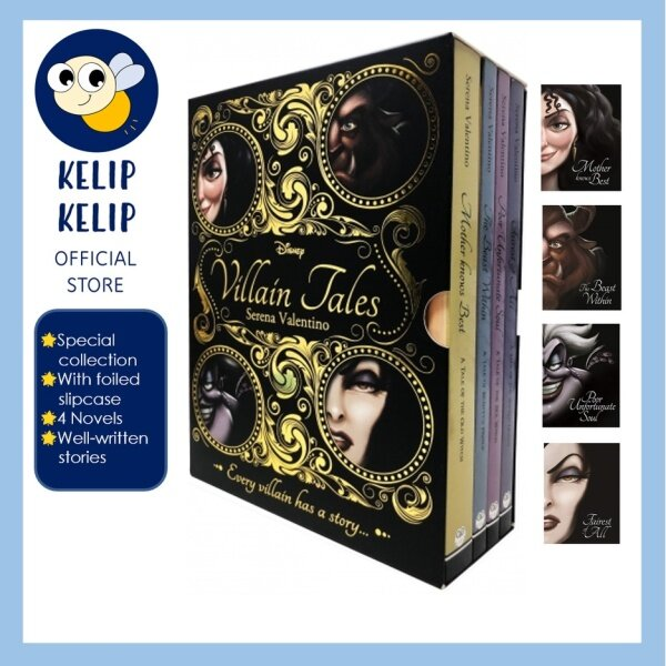 Disney Villain Tales 4 Books Gift Set Collection with Beauty & TheBeast Little Mermaid Snow White Tangled for Adult Malaysia