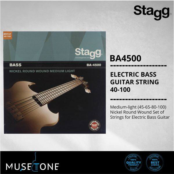 Stagg BA-4500 Nickel Round Wound Set of Strings for Electric Bass Guitar BA4500 Malaysia