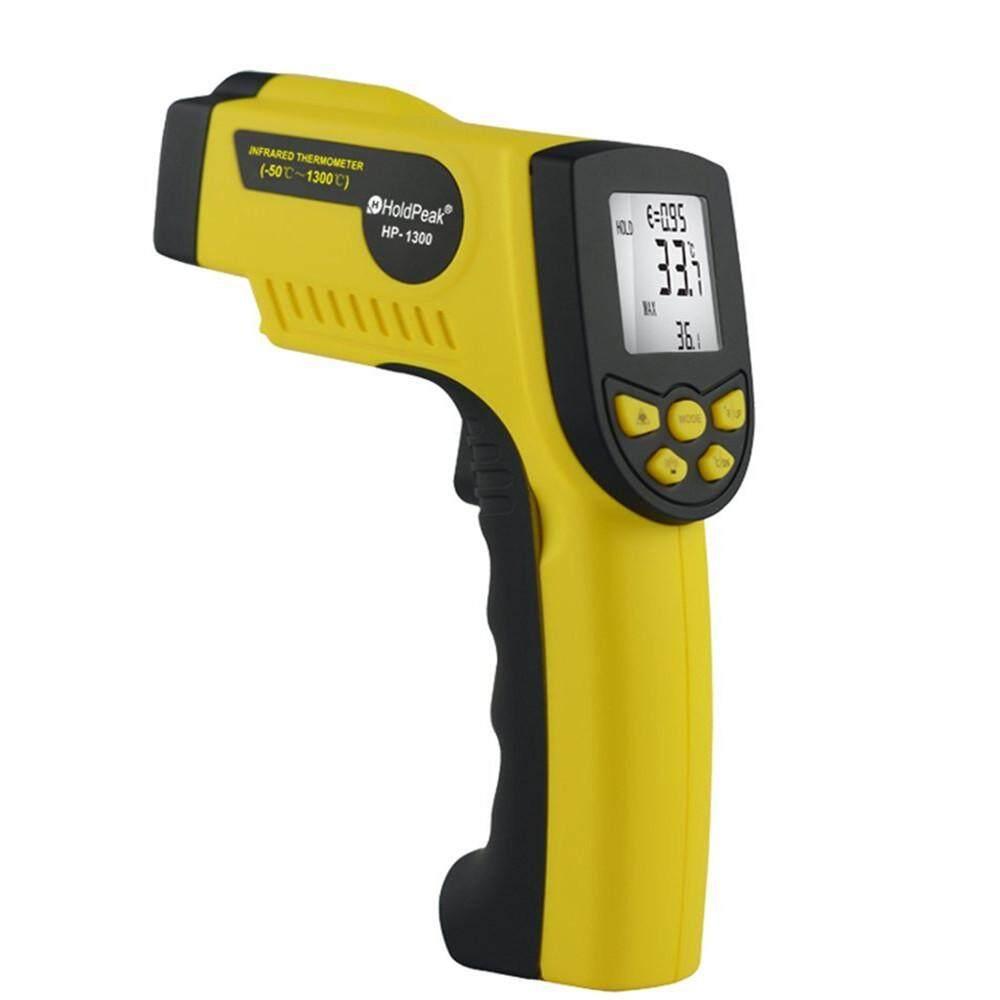 HoldPeak HP-1300 Digital Portable Infrared Thermometer Gun Temperature Testing Thermometer IR Measuring Gauge Temperature Range: -50℃~1300℃