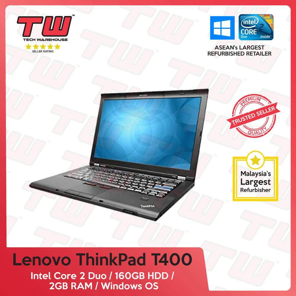 Lenovo ThinkPad T400 Core 2 Duo / 2GB RAM / 160GB HDD / Windows OS Laptop / 3 Months Warranty (Factory Refurbished) Malaysia